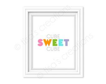 Cube Sweet Cube Digital Printable