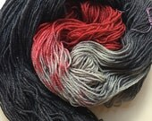 RESERVED FOR TYPEM: Crowley Superwash Merino Sock Yarn with Silver-- spattered