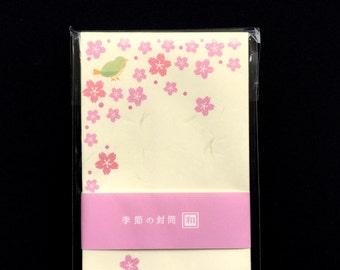 Japanese Envelopes - Cherry Blossom Envelopes - Bird Envelopes - Set of 10