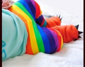 Rainbow stripe Jogger Pants Leggings multi colored BRIGHT or Pastel stripes jogging newborn baby through 5t toddler punk red green blue