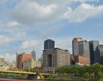 Pittsburgh Photography, City Photography, Building Photography, Architecture, Bridges, Blue Sky, 8x10, 5x7, 8x12