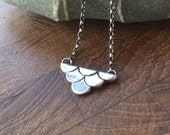 Eco recycled Sterling silver 'Mermaid' necklace.  Handmade artisan jewellery.