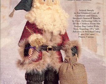 Old World Santas ~ Jultomete ~  plastic canvas book