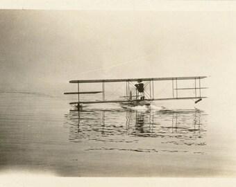 vintage photo 1919 Boeing Model C700 trainer US Mail Seaplane Airplane Lake Seattle WA
