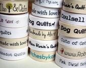 Handmade Custom Made Labels.