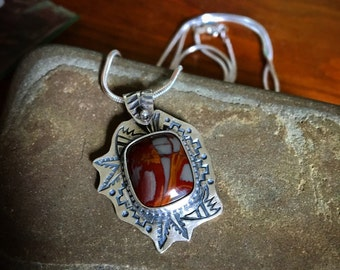 "20"" sterling silver Noreena Jasper Necklace"