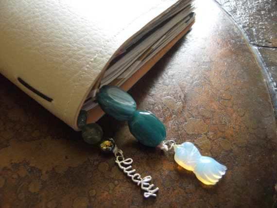 Lucky Blue Dress Traveler's Notebook Bookmark