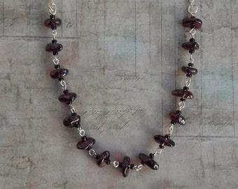 Garnet Chips Necklace