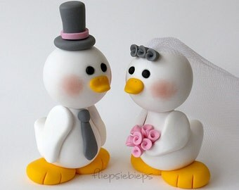 Custom Duck Wedding Cake Topper (White)