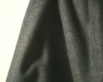 WOOL FABRIC / dark charcoal / dark grey / australia / wool melton