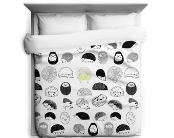 Hedgehogs Duvet Cover, Double Sided