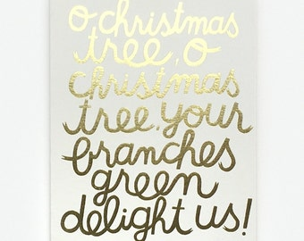 O Christmas Tree - Greeting Card