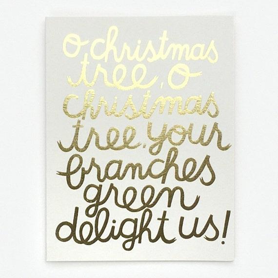 O Christmas Tree - Greeting Card