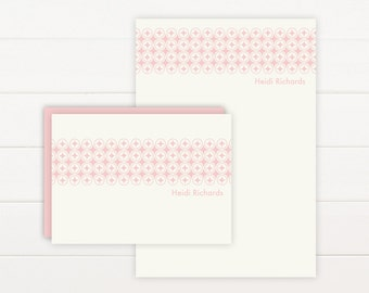 MOROCCO Personalized Stationery + Notepad Set, Personalized Notepad and Personalized Stationary