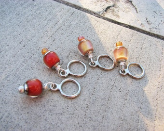 New! Mood Bead Non-Snag Stitch Markers with 10 mm Mirage Beads