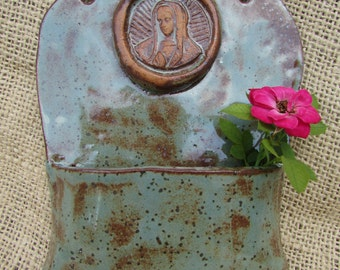 Handmade Lady of Guadalupe Holy Water Font