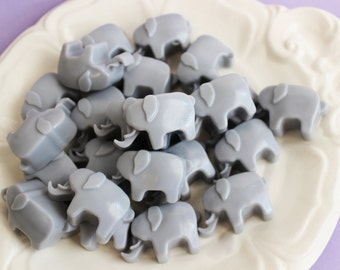 Elephant Soap Set - Soap Favors, Baby Shower, Lavender Soap, Mini Soap, Animal Soap, Kids Soap, Baby Soap, Grey Soap, Party Favors, Circus