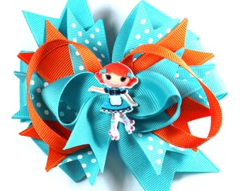 Boutique lalaloopsy Inspired  Hair Bow Clip