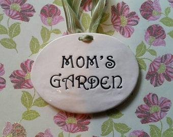Garden Art a Great Gift for a mom who loves or has a garden! Inspirational Ceramic Plaque