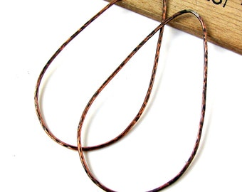 Hand Forged Copper Drop Hoops