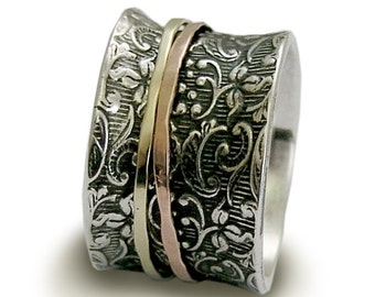 Hippie wedding band Etsy