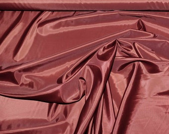 Poly Lining fabric 58 inches wide..Terracotta  .. . used for lining  jackets, skirts, dresses. vests, soft, light weight