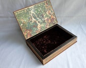 Keepsake Book Box from 1920 Colliers Encyclopedia Aged Copper Patina Embossed Cover Large Hollow Tarot Goth Groomsman Secret Stash Hidden