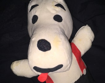 Vintage Halom Toys Stuffed Snoopy Dog