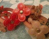 100% Authentic: Louis Vuitton Leather Wrap Flower Bracelet