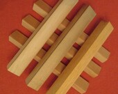 Six Wooden Scrabble Tile Racks