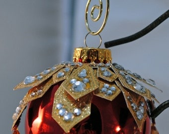 Red and gold - Christmas ornament