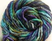 Handspun yarn Thick and Thin merino bulky  82yards 3.7ozs