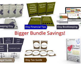 6 Resources offerred by JJMFinance - The Intermediate Bundle - Best Value - Tax - Bookkeeping - Spreadsheet