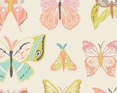 Wingspan Melon - Winged - Art Gallery Fabrics - Bonnie Christine - WNG-1020 - Butterflies - Pink