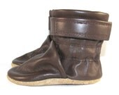 Soft Sole Brown Leather Baby Boots Shoes 6 to 12 Month