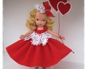 Valentine Decoration Vintage  Nancy Ann Bisque Doll Valentine Ornament  TVAT