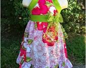 Hawaiian Girls Luau Dress, Hawaiian Luau Summer Girls Hibiscus Flower Outfit, Custom Boutique Toddler Hawaiian Luau Birthday Party,