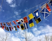 Nautical Flags garland, A-Z, Large flags