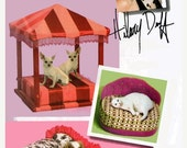ON SALE DESIGNER Hilary Duff Fancy Pet Beds Chaise Lounge McCalls 5677 Sewing Pattern Uncut
