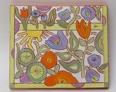 margarita time hand carved ceramic art tile