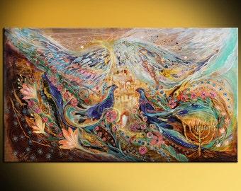 Original wall art interior design giclee canvas print Angel Wings series Home & Living print Wall Decor Housewares Wall hangings Jewish art