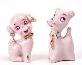 Vintage Ceramic Puppy Love Figurines 1950's