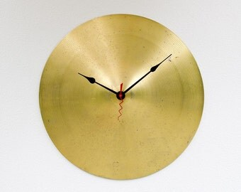 Recycled Drum Cymbal Clock