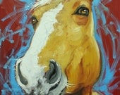 Horse painting 16 16x20 inch animal original oil painting by Roz
