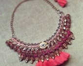 Berry colour Holy Granny Necklace