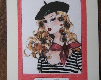 Fashion Illustration 11x14 Starlett Barbie