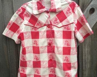 1950s Horse Shirt Kids 6/7