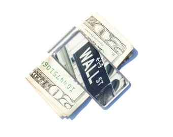 Finance Gift- Corporate Gift- Money Clip - Moneyclip - Boyfriend Gift- Groomsmen Gift  - Personalized Gift - Wall Street Money Clip- Cash