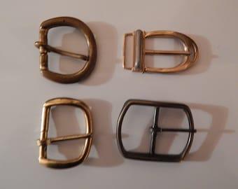 Four Belt Buckles