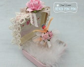 Vintage Jewelry box BALLERINA Shabby PINK Roses
